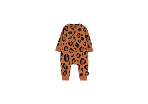 Tiny Cottons Animal Print One-Piece Brown/Dark Brown