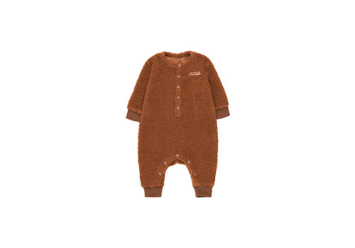 Tiny Cottons Citizen Of Luckywood One-Piece Dark Brown/Light Cream
