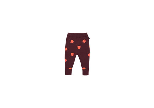 Tiny Cottons Apples Pant Aubergine/Red