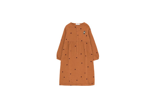 "Tiny Cottons Dots ""Cat"" Dress Brown/Aubergine"