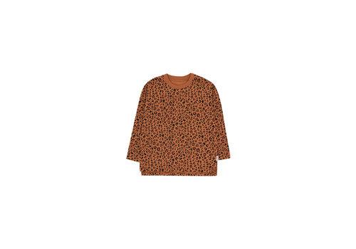 Tiny Cottons Animal Print Ls Tee Brown/Dark Brown