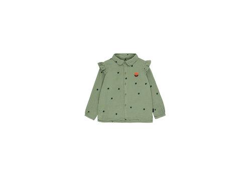 """Tiny Cottons Dots """"Sunset"""" Shirt Green Wood/Bottle Green"""
