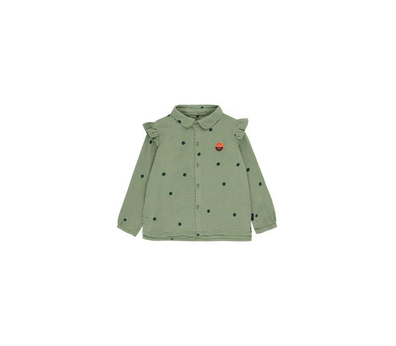 """Dots """"Sunset"""" Shirt Green Wood/Bottle Green"""