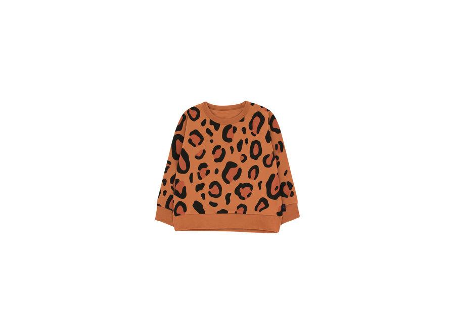 Animal Print Sweatshirt Brown/Dark Brown