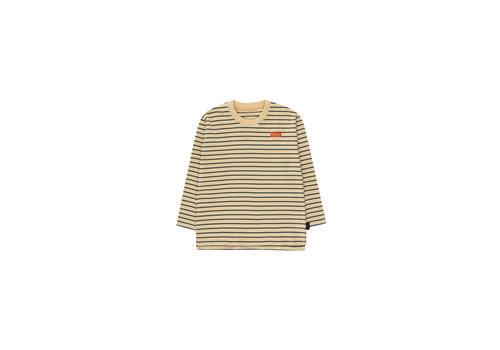 Tiny Cottons Stripes Ls Tee Sand/True Navy