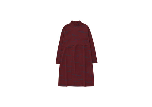 Tiny Cottons Luckywood Sign Dress Aubergine/True Navy