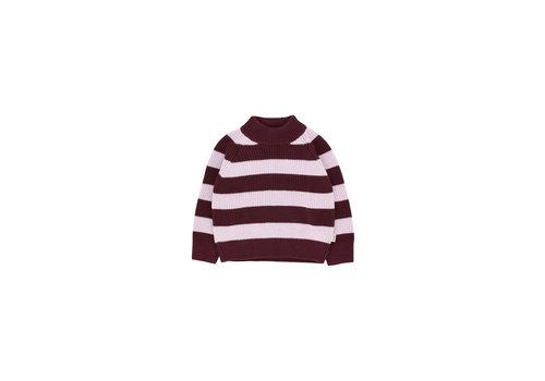 Tiny Cottons Stripes Sweater Aubergine/Light Lilac
