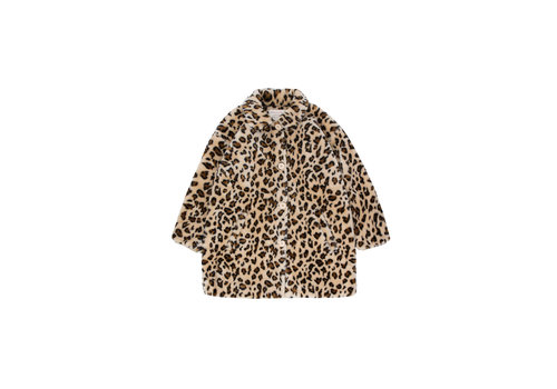 Tiny Cottons Faux Fur Coat Light Cream/Brown