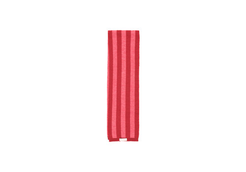 Tiny Cottons Stripes Scarf Burgundy/Bubble Gum