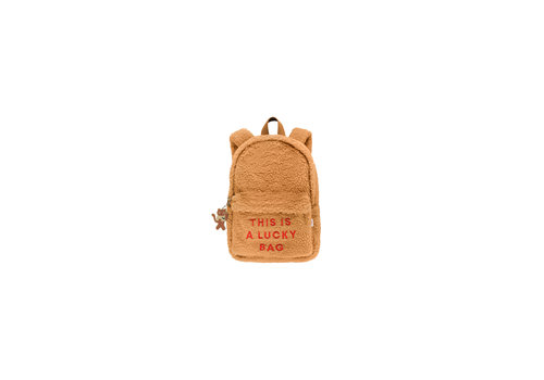 Tiny Cottons Sherpa Backpack Brown