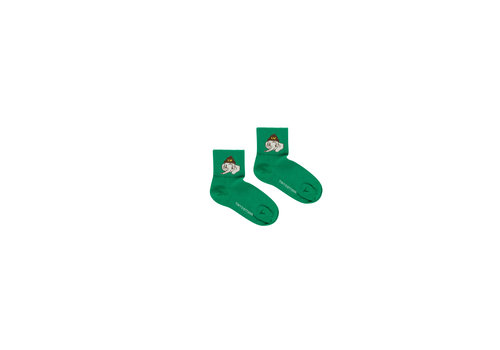 Tiny Cottons Luckyphant Medium Socks Deep Green/Sand