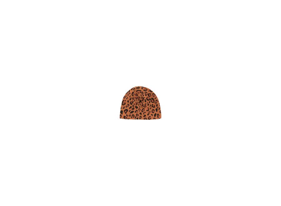 Animal Print Baby Hat Brown/Dark Brown