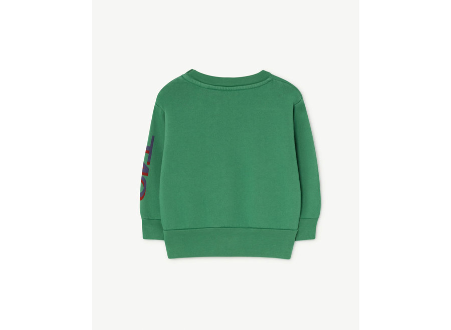 Bear Babies Sweatshirt Green Circles