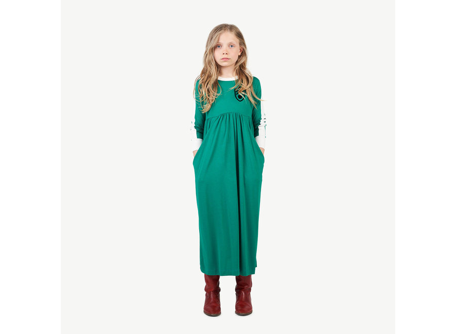 Cockatoo Kids Dress Electric Green Shiel