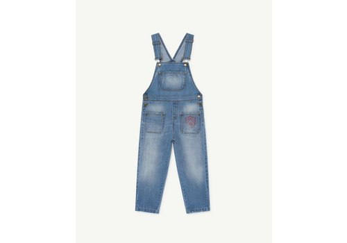 The Animals Observatory Mule Kids Jumpsuit Indigo Shield