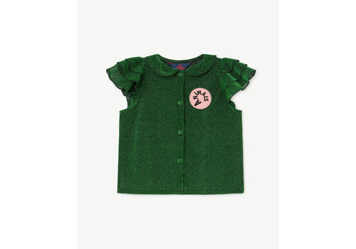 The Animals Observatory Parakeet Kids Shirt Electric Green