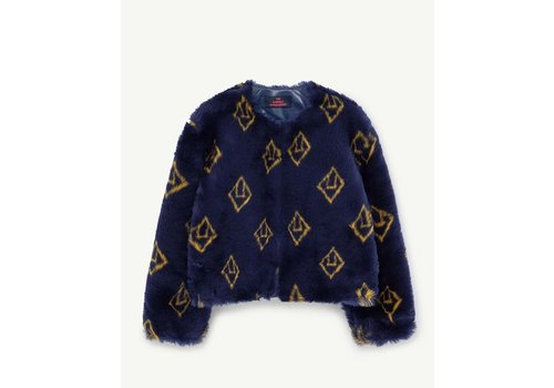 The Animals Observatory Logo Shrew Kids Jacket Navy Blue