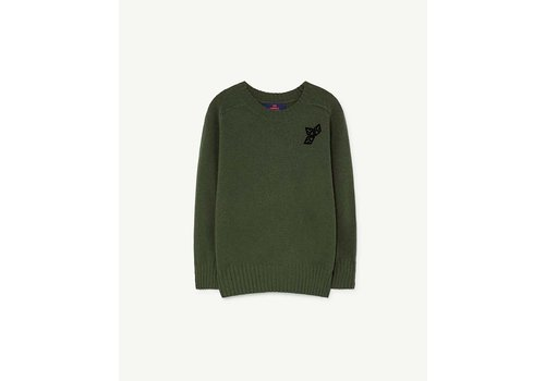 The Animals Observatory Sardine Kids Sweater Green Logo