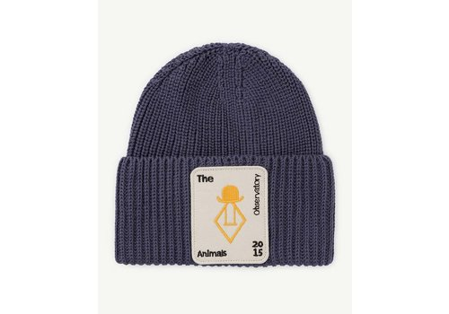 The Animals Observatory Plain Pony Kids Hat Navy Blue