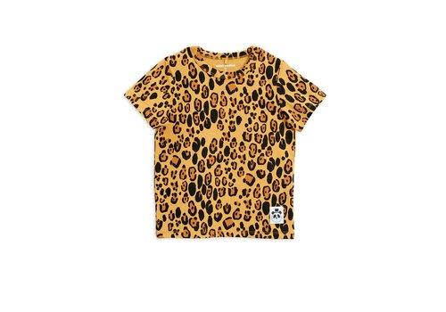Mini Rodini Basic leopard ss tee Beige