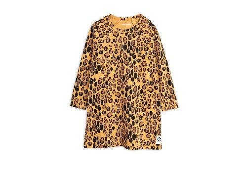 Mini Rodini Basic leopard ls dress Beige