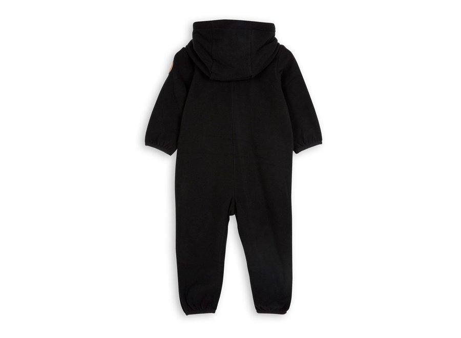 Fleece onesie Black