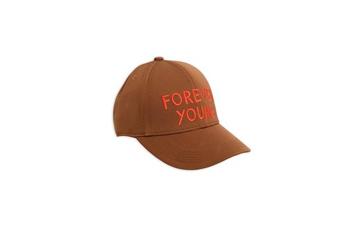 Mini Rodini Forever young embroidery cap Brown