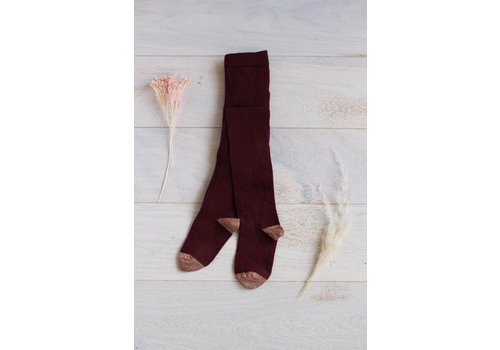 Louise Misha Tights Lucia Burgundy