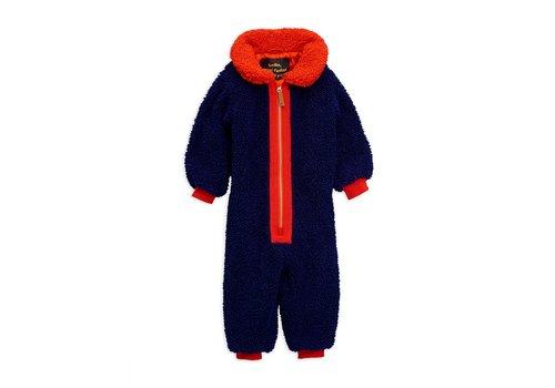Mini Rodini Faux fur baby overall Blue
