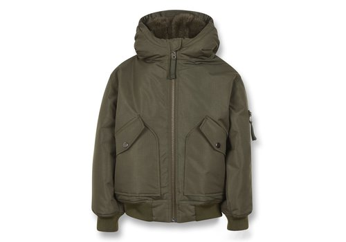 Finger in the nose NEW BALTIMORE Khaki - Unisex Woven Zipped Hooded Jacket