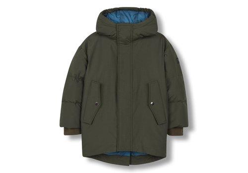 Finger in the nose SNOWDOLL Khaki - Unisex Woven Oversized Down Coat