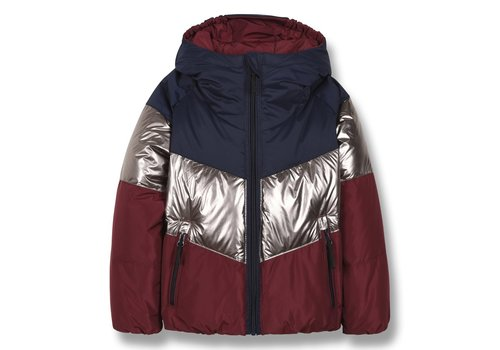 Finger in the nose SNOWDANCE Multicolor Colorblock - Girl Woven Down  Jacket