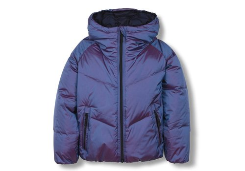 Finger in the nose SNOWDANCE Sailor Blue - Girl Woven Down Jacket