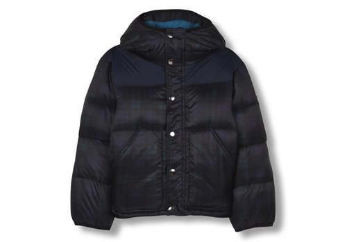 Finger in the nose SNOWFLOW Navy Checker - Unisex Woven Down Jacket
