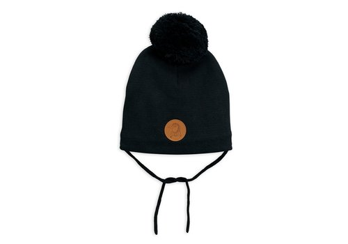 Mini Rodini Penguin hat Black