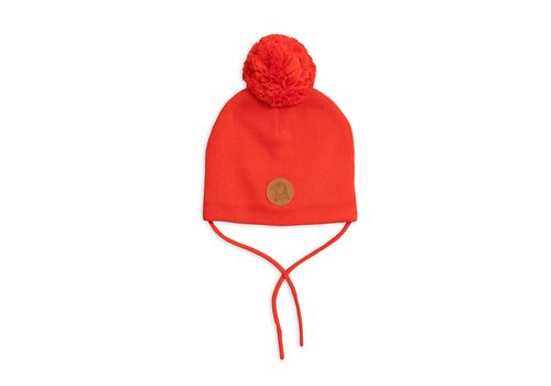 Mini Rodini Penguin hat Red