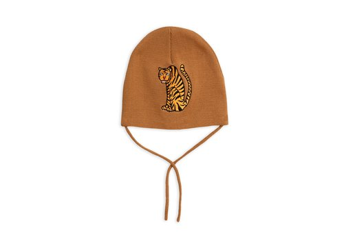 Mini Rodini Tiger patch hat Brown