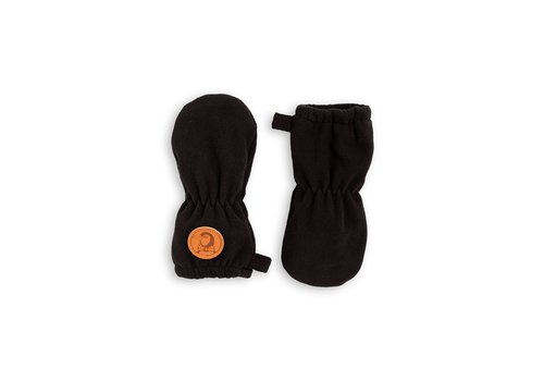 Mini Rodini Fleece mittens Black