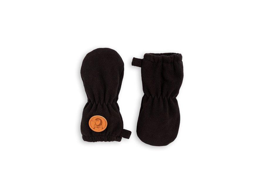 Fleece mittens Black