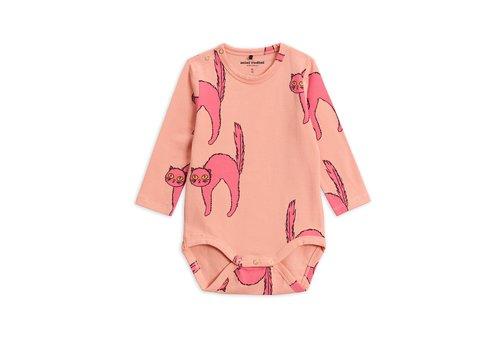 Mini Rodini Catz ls body Pink