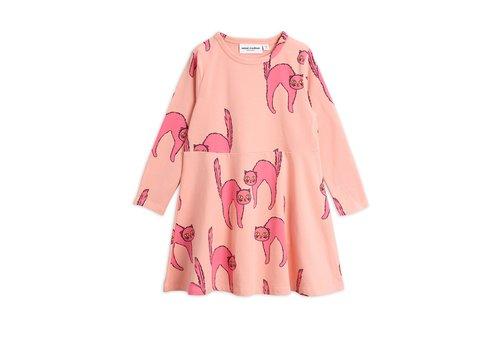 Mini Rodini Catz ls dress Pink
