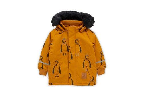 Mini Rodini K2 penguin parka Brown