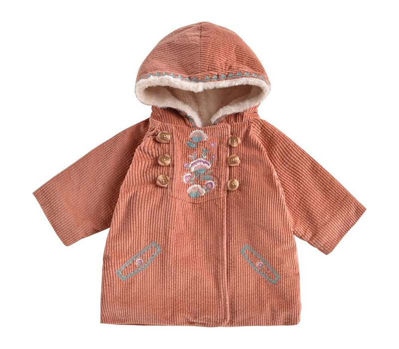 Coat Zoila Terracotta