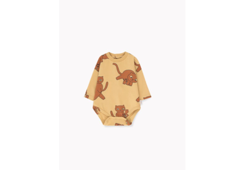 Tiny Cottons Cats Ls Body Sand/Brown