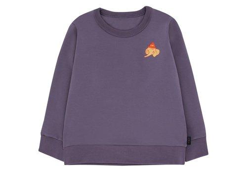 Tiny Cottons Luckyphant Sweatshirt Dark Lilac/Sand