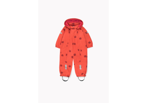 Tiny Cottons Apples Snow One-Piece Red/Burgundy