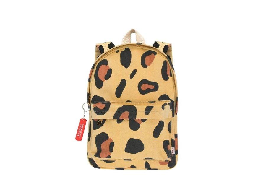 Animal Print Backpack Sand/Brown