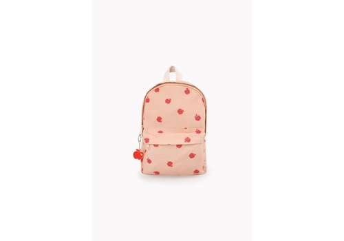 Tiny Cottons Apples Backpack Nude/Burgundy