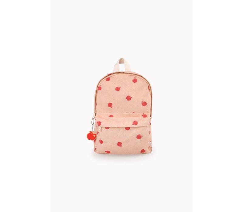 Apples Backpack Nude/Burgundy