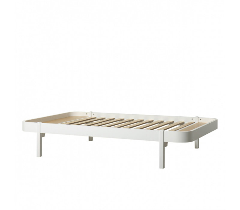 WOOD LOUNGER 120, WHITE